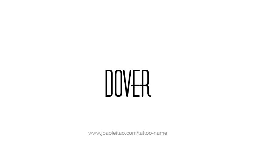 Tattoo Design USA Capital City Name Dover