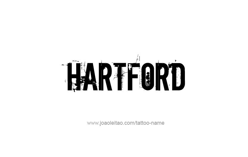 Tattoo Design USA Capital City Name Hartford