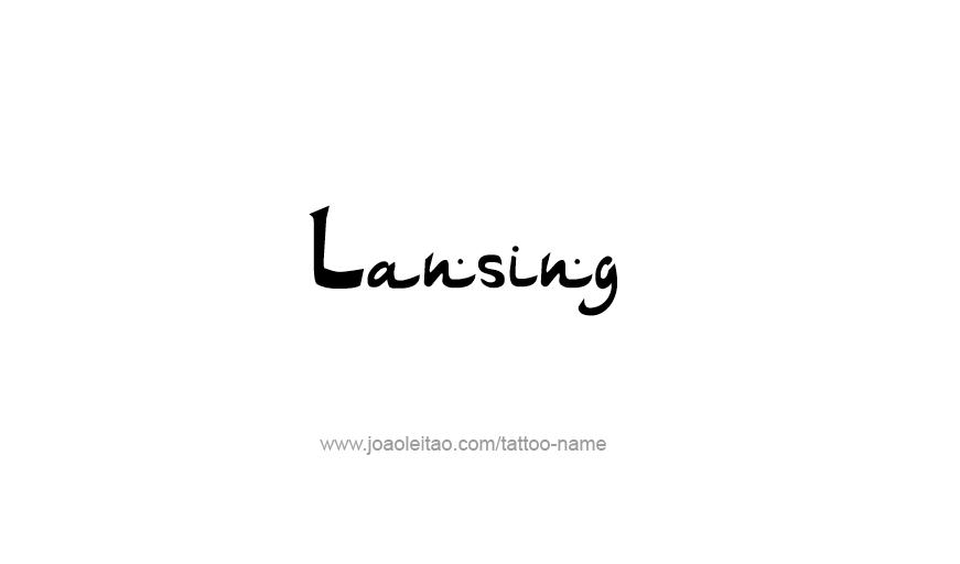 Tattoo Design USA Capital City Name Lansing