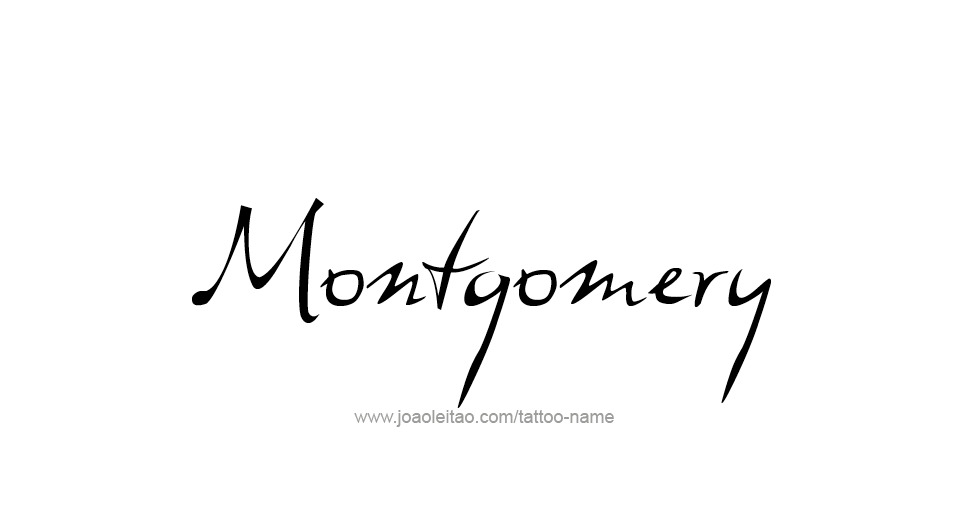 Tattoo Design USA Capital City Name Montgomery