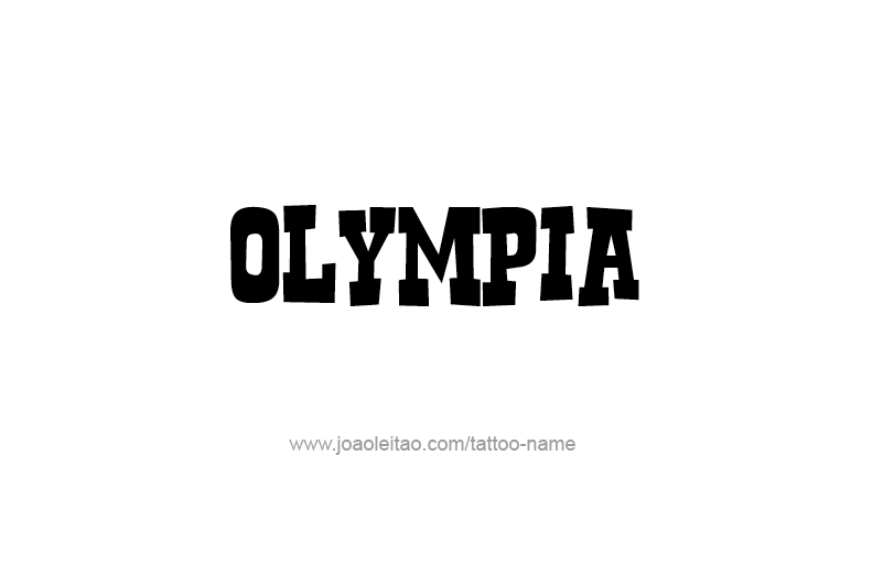 Tattoo Design USA Capital City Name Olympia