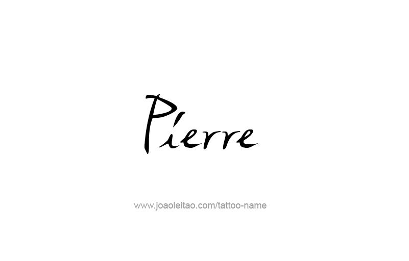 Tattoo Design USA Capital City Name Pierre