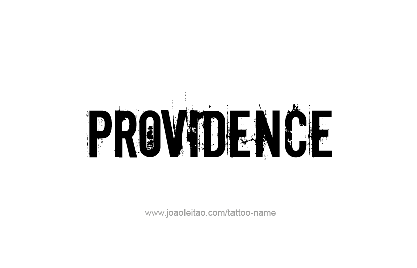 Tattoo Design USA Capital City Name Providence