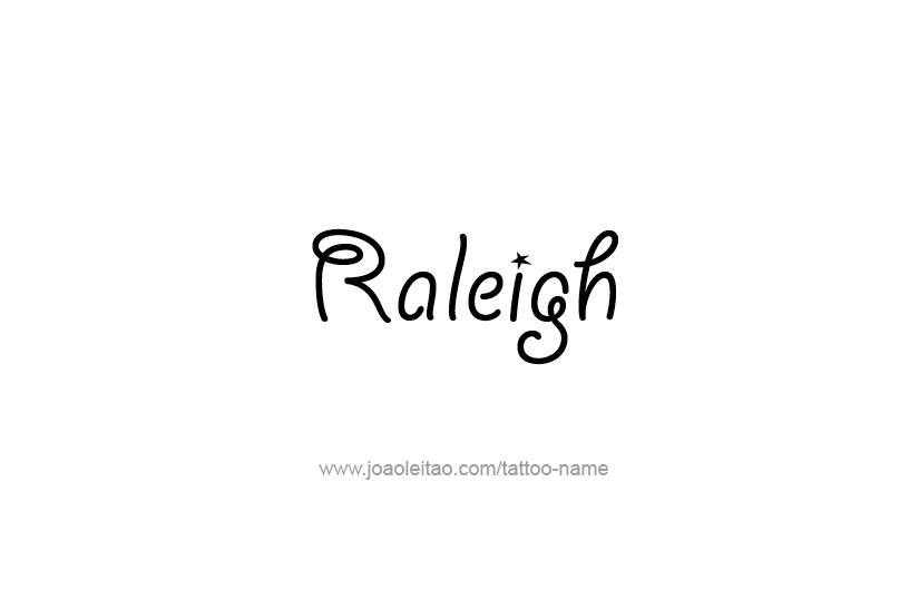 Tattoo Design USA Capital City Name Raleigh