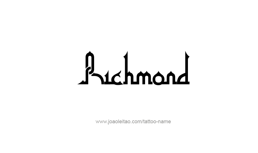 Tattoo Design USA Capital City Name Richmond