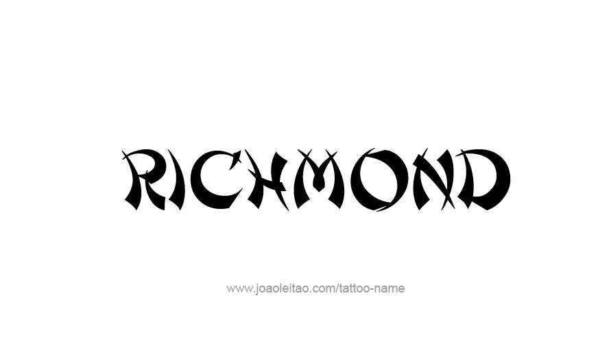 Tattoo Design USA Capital City Name Richmond