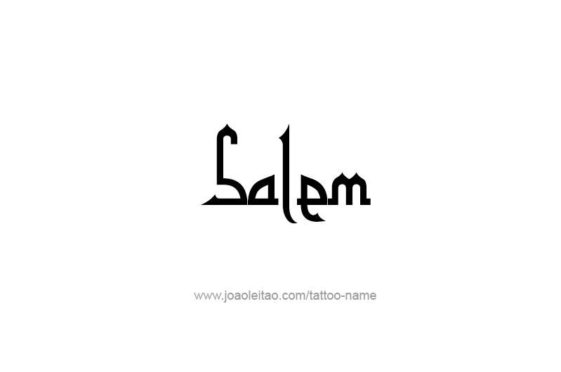 Tattoo Design USA Capital City Name Salem
