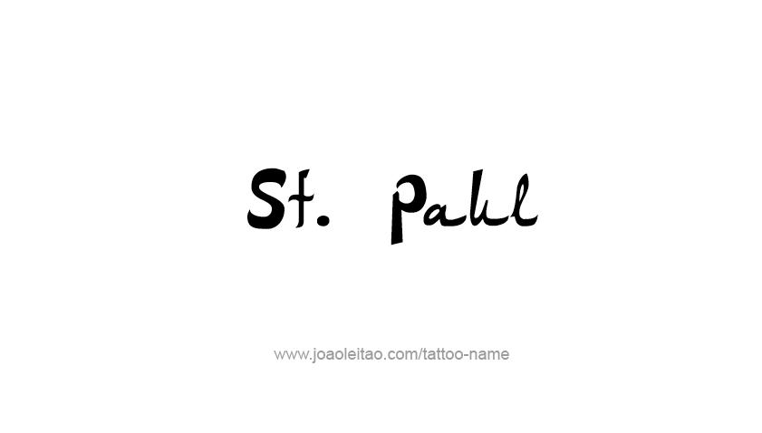 Tattoo Design USA Capital City Name St. Paul