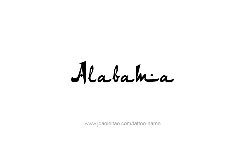 Tattoo Design USA State Name Alabama