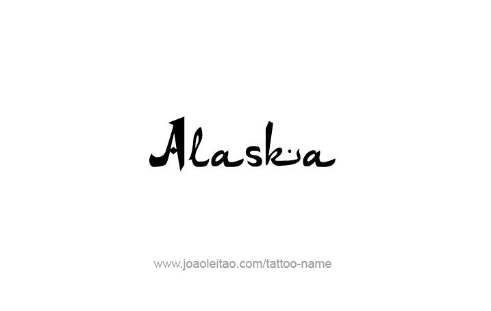 Tattoo Design USA State Name Alaska