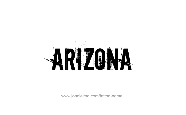 Tattoo Design USA State Name Arizona