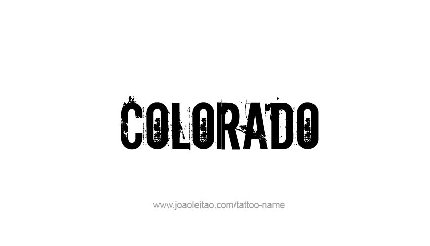 Tattoo Design USA State Name Colorado