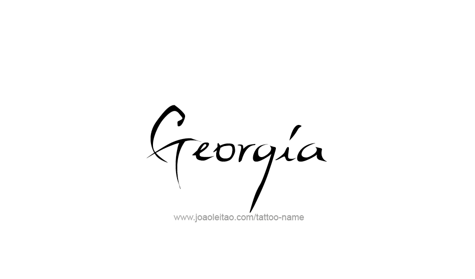 Tattoo Design USA State Name Georgia