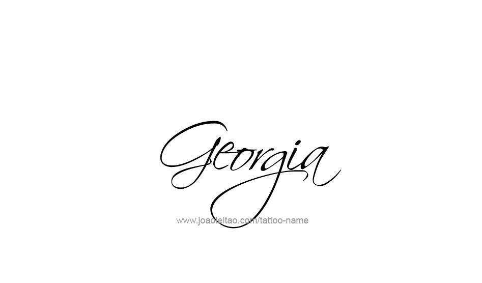 Tattoo Design USA State Name Georgia