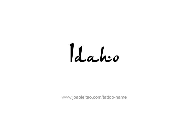 Tattoo Design USA State Name Idaho