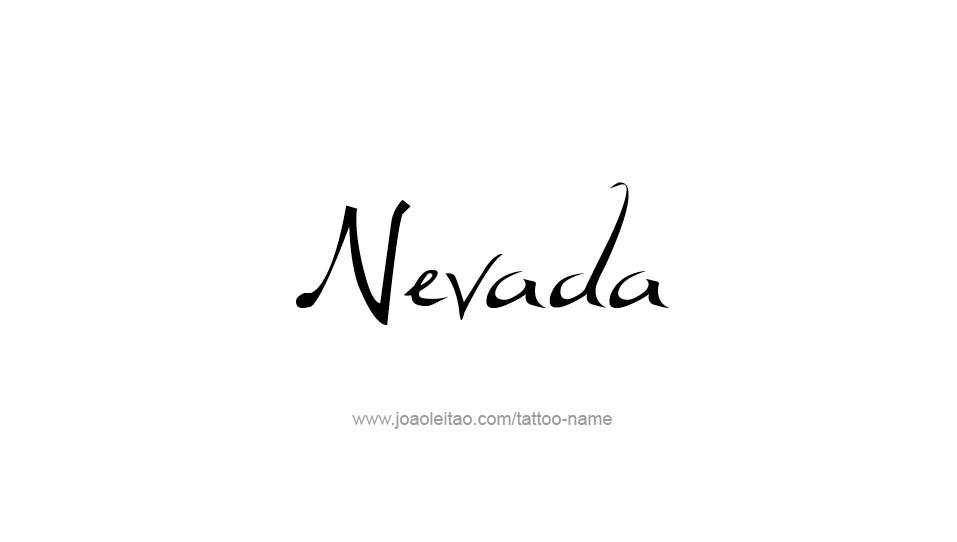 Tattoo Design USA State Name Nevada