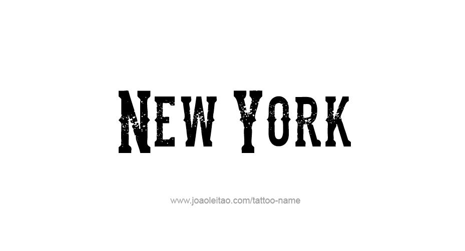 Tattoo Design USA State Name New York