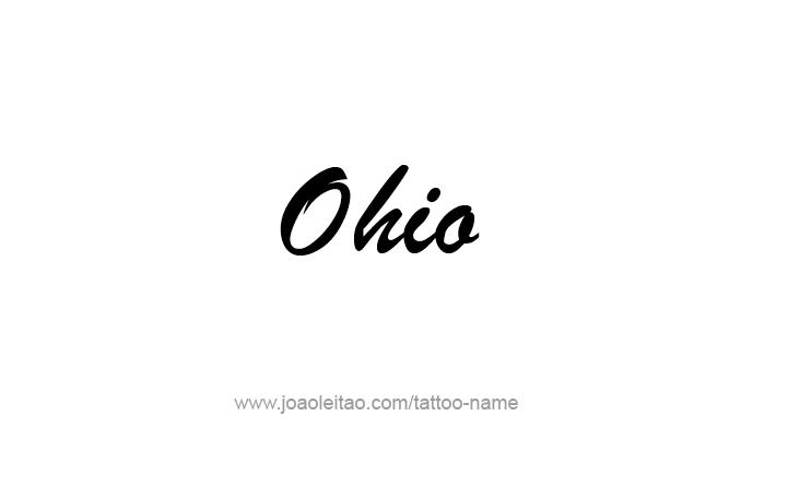 Tattoo Design USA State Name Ohio
