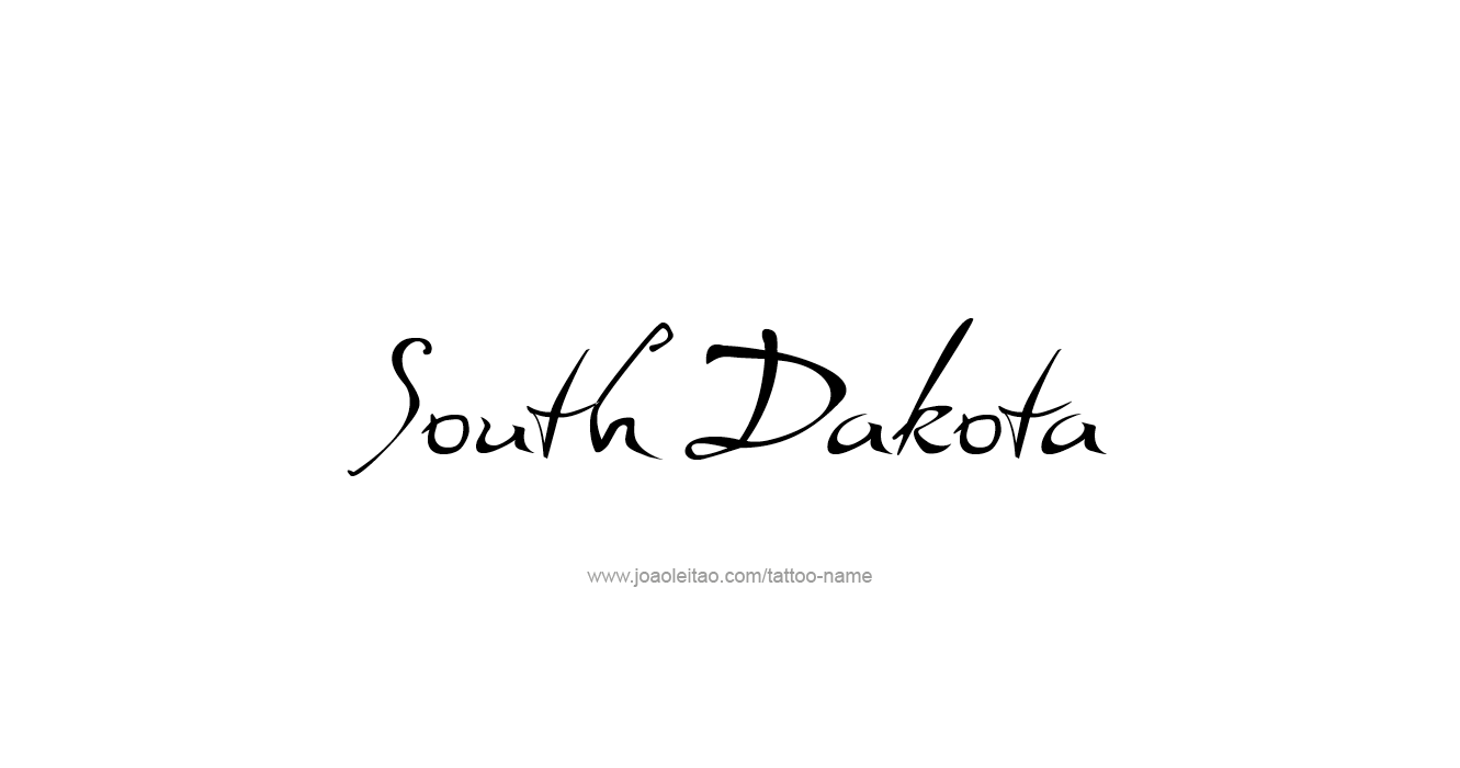Tattoo Design USA State Name South Dakota
