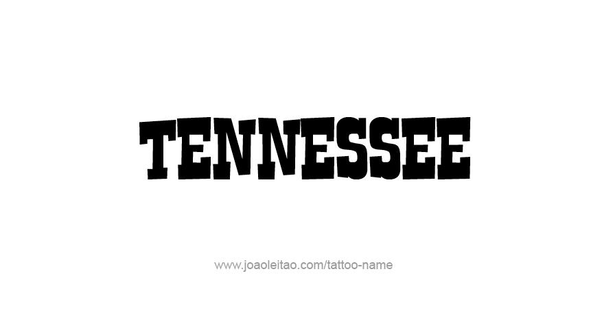 Tattoo Design USA State Name Tennessee