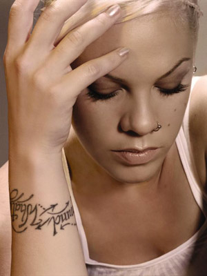 Wristband Name Tattoo Idea