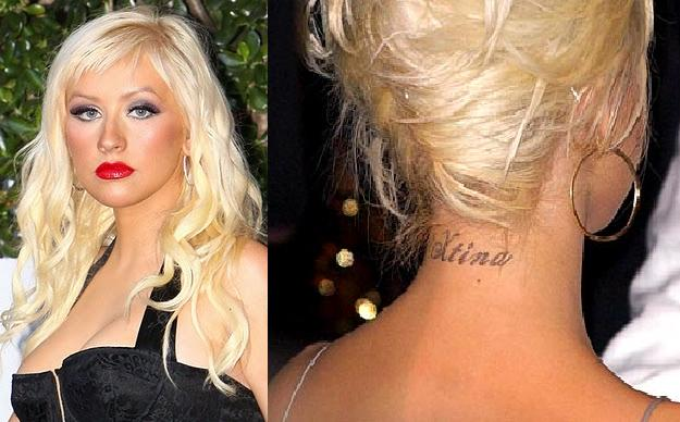 Christina Aguilera Name Tattoo