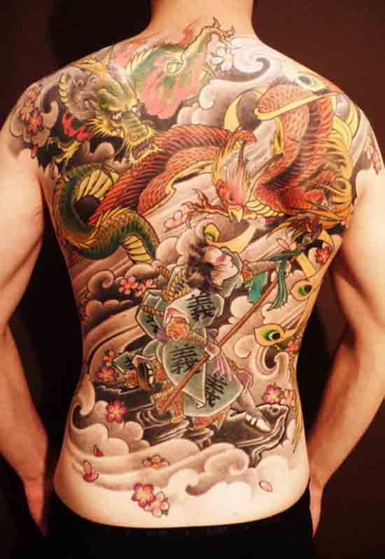 Back Tattoo for Men - Chinese Tattoo Design Ideas, full back tattoo