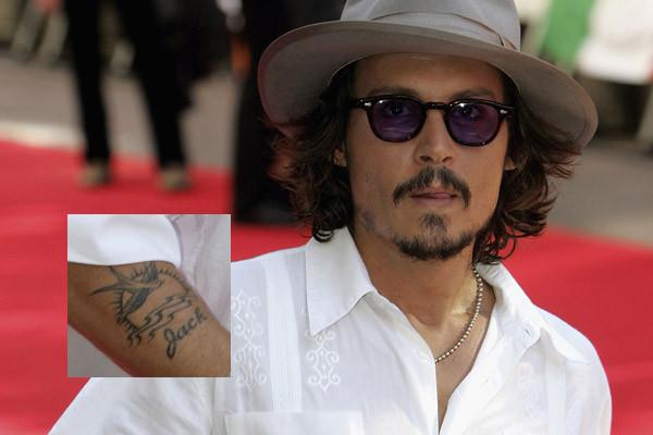 Johnny Depp Name Tattoo