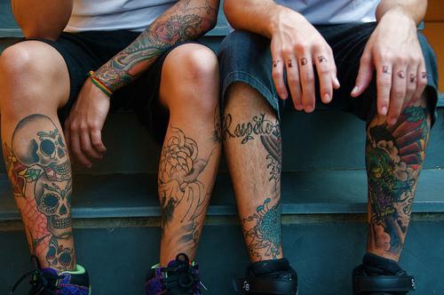 Calves Tattoo for Men - Various Calves and Leg Tattoo Design Ideas
