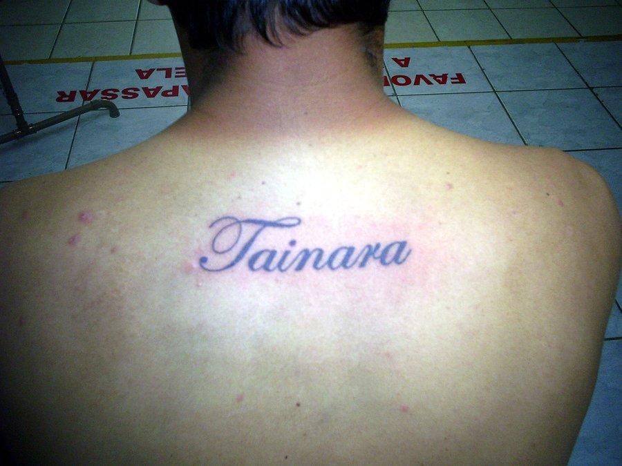 Back Name Tattoo Image