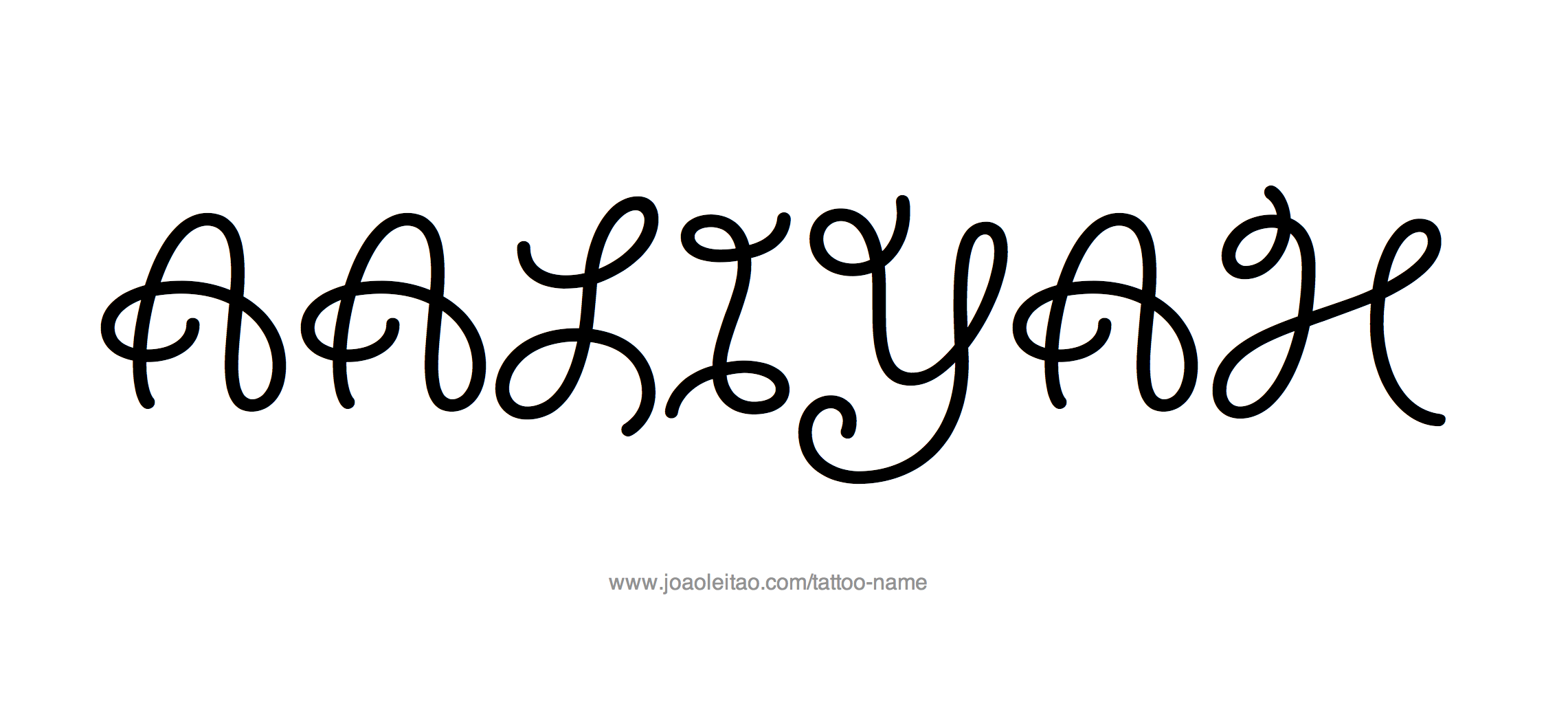 Tattoo Design Name Aaliyah