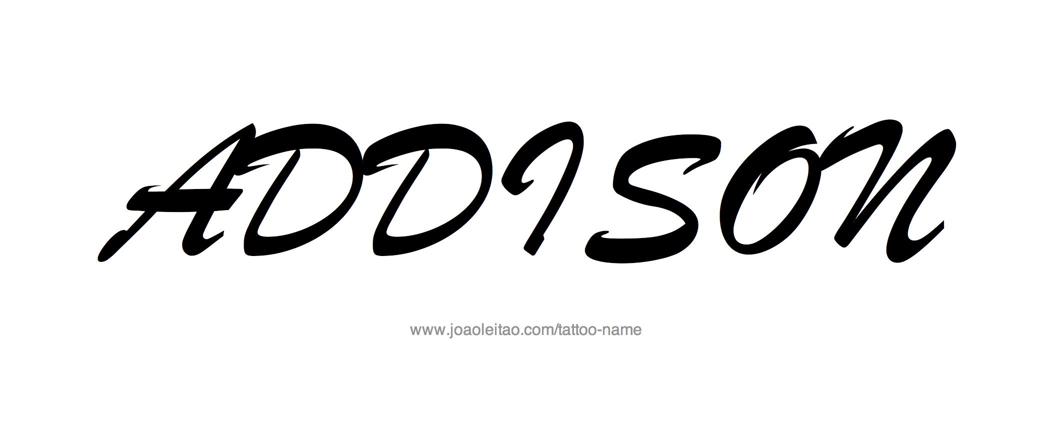 Tattoo Design Name Addison