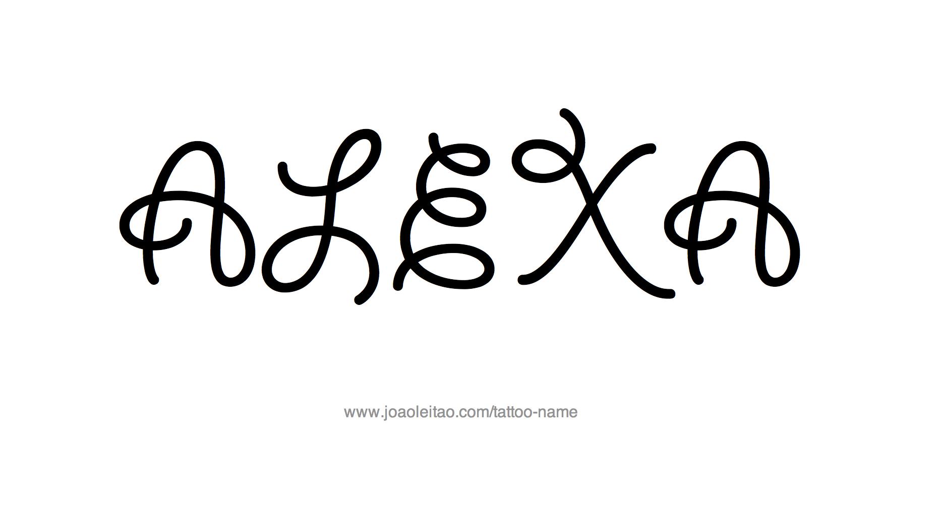 Tattoo Design Name Alexa