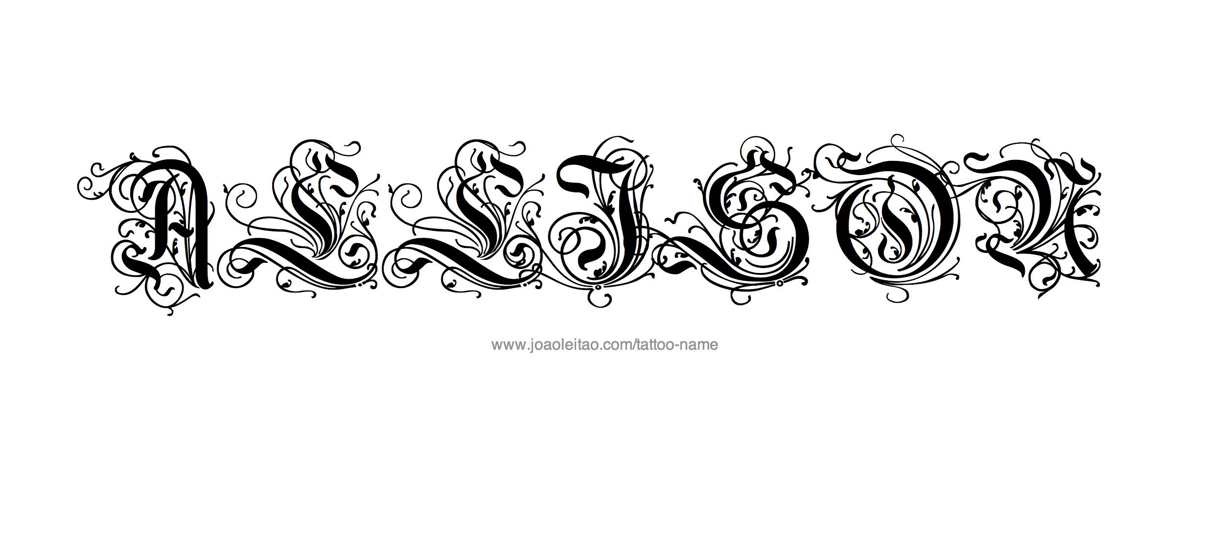Tattoo Design Name Allison