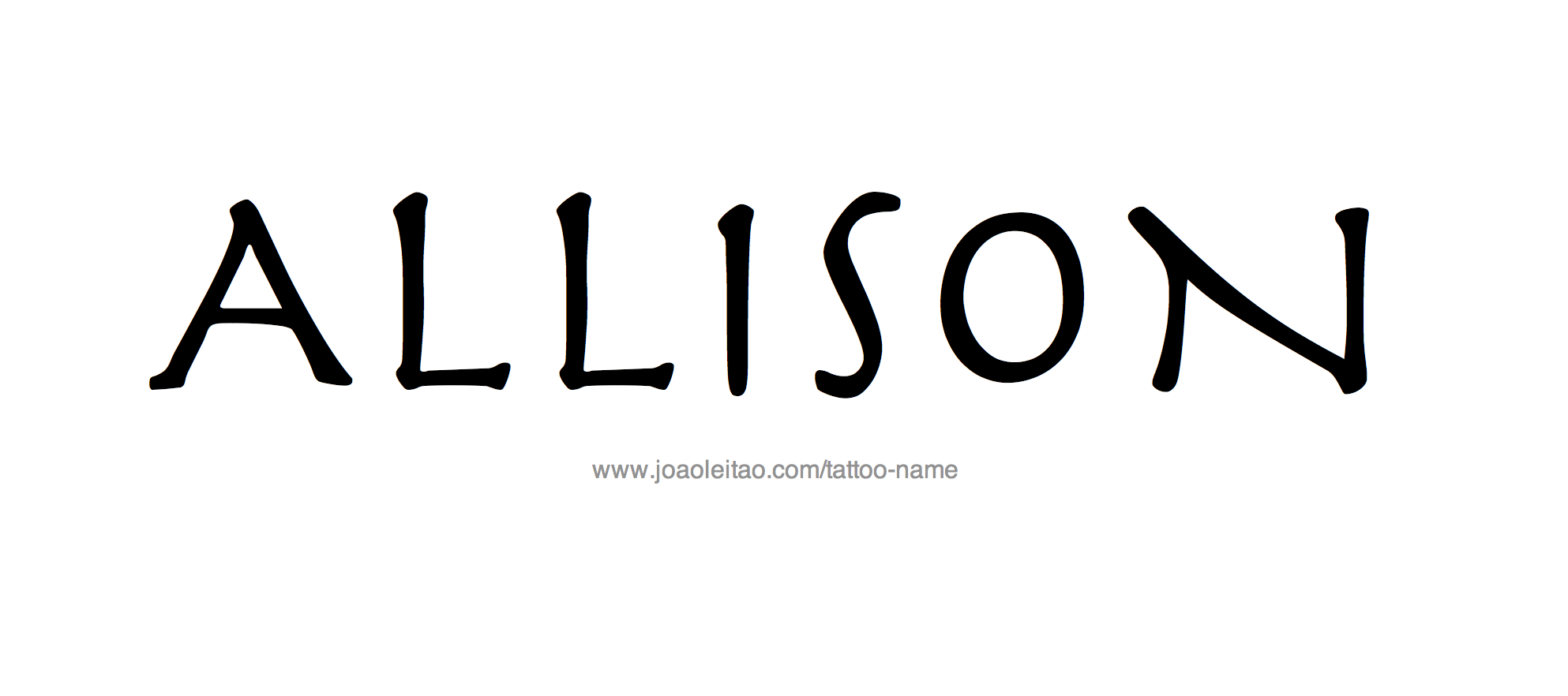 Tattoo Design Name Allison