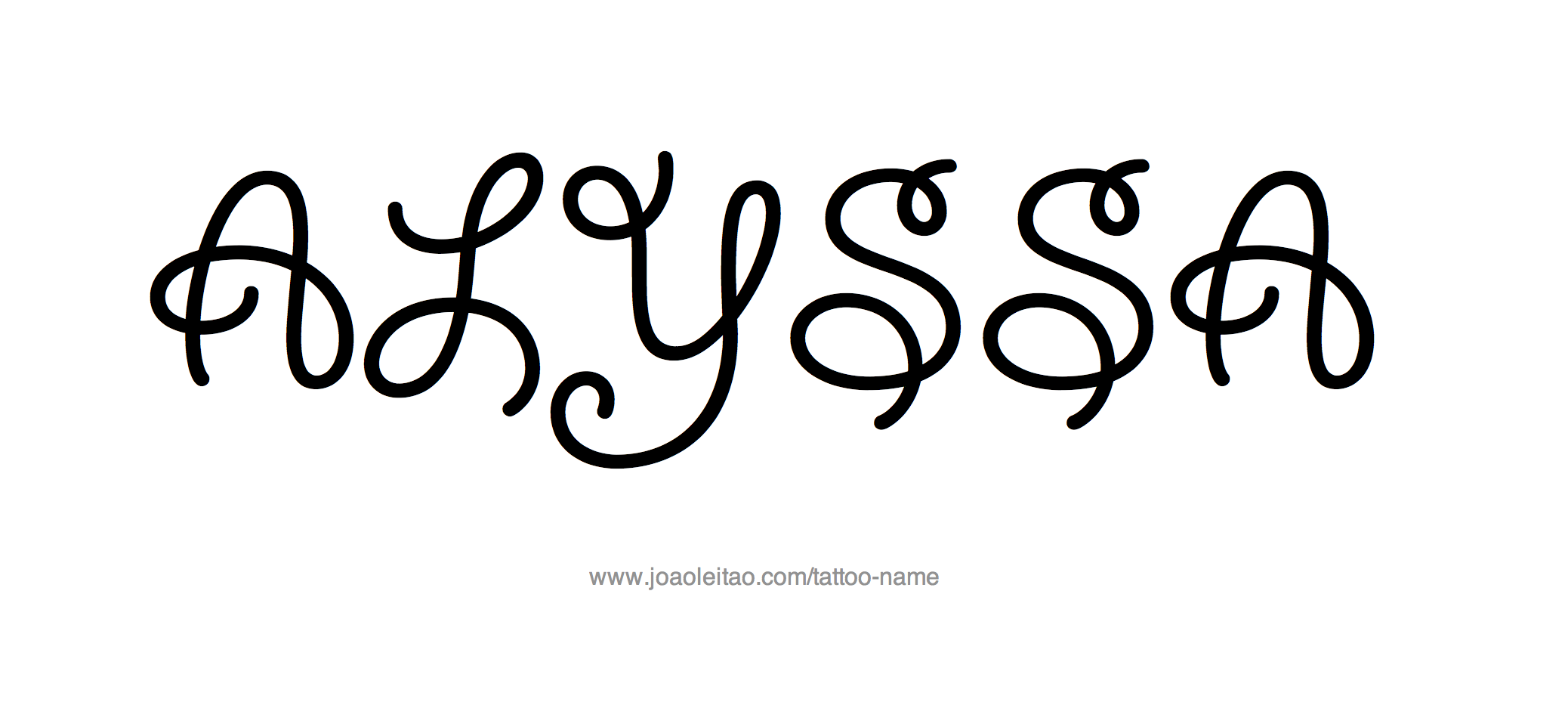 Tattoo Design Name Alyssa