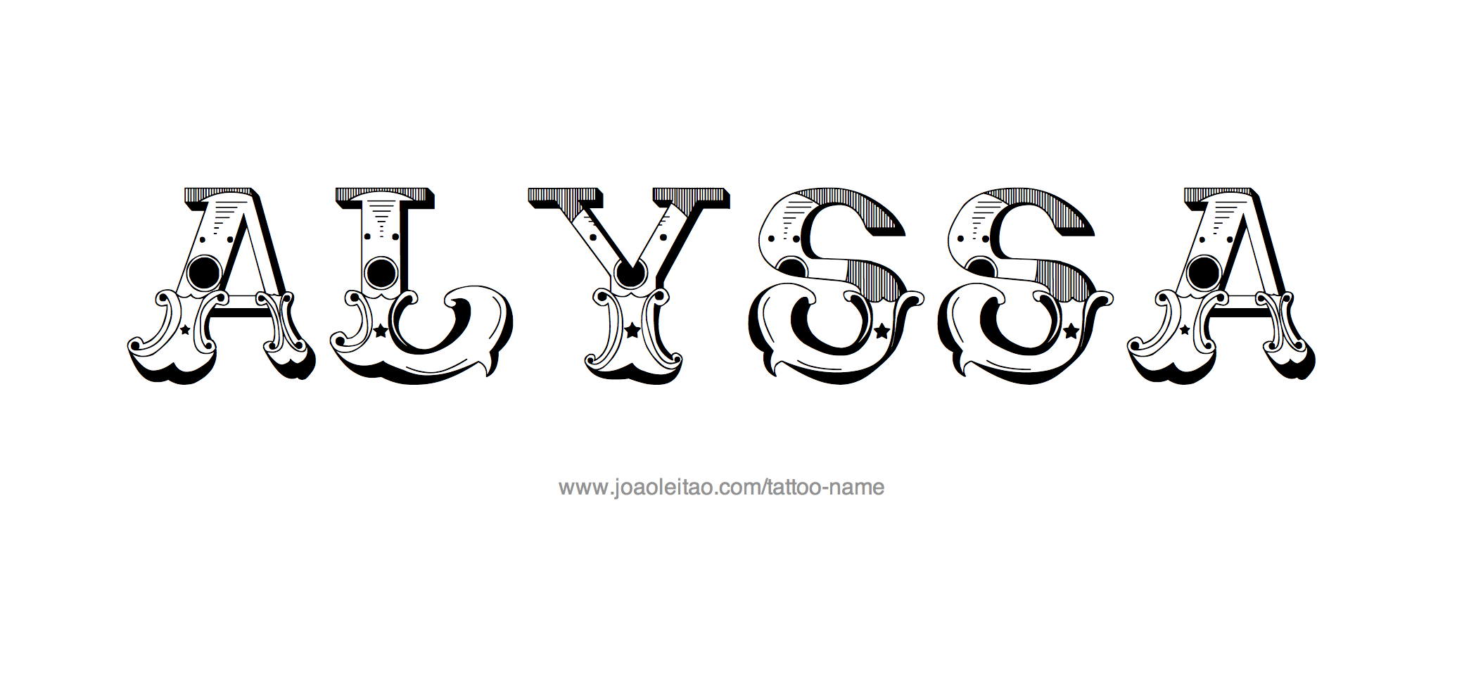 Alyssa Name Tattoo Designs