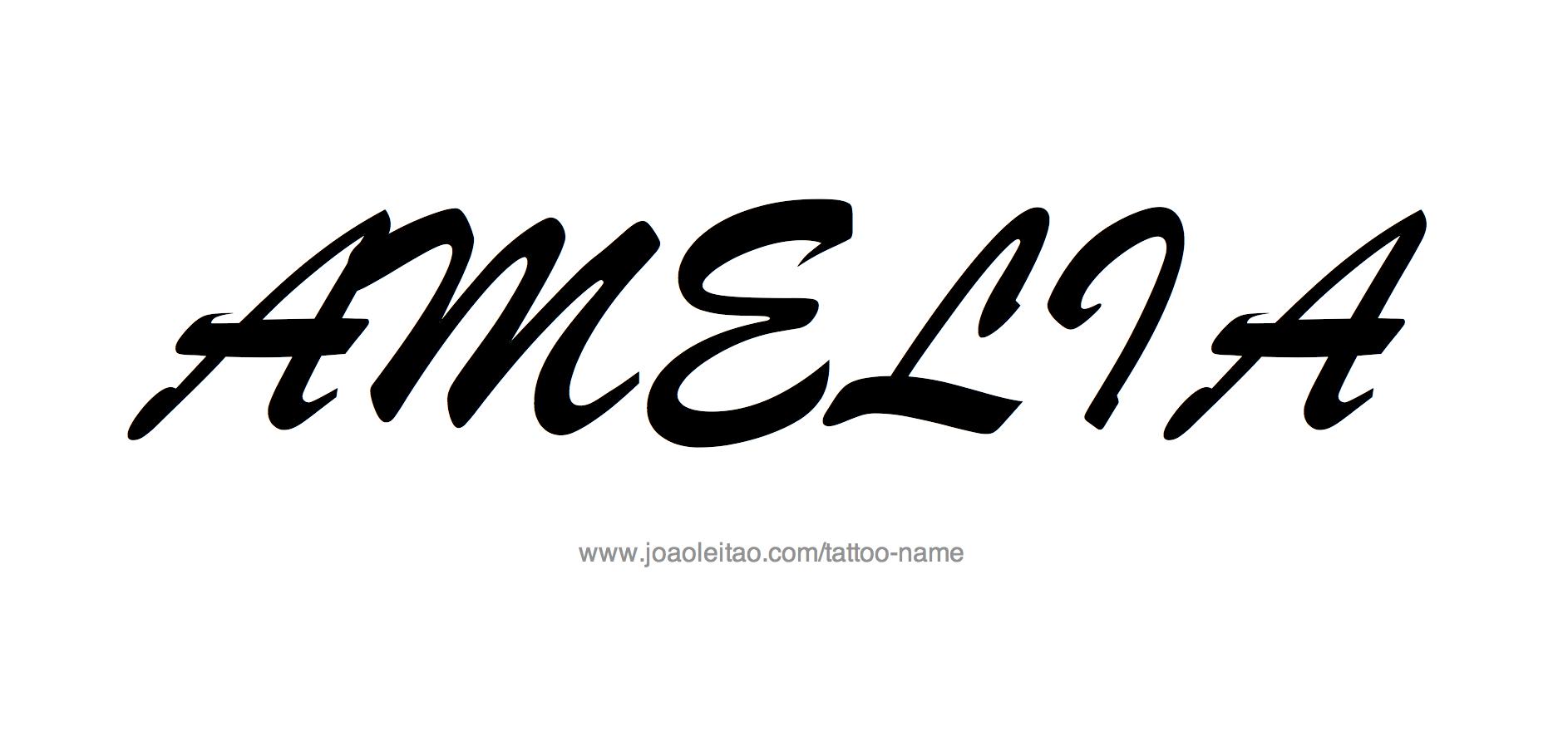 Tattoo Design Name Amelia