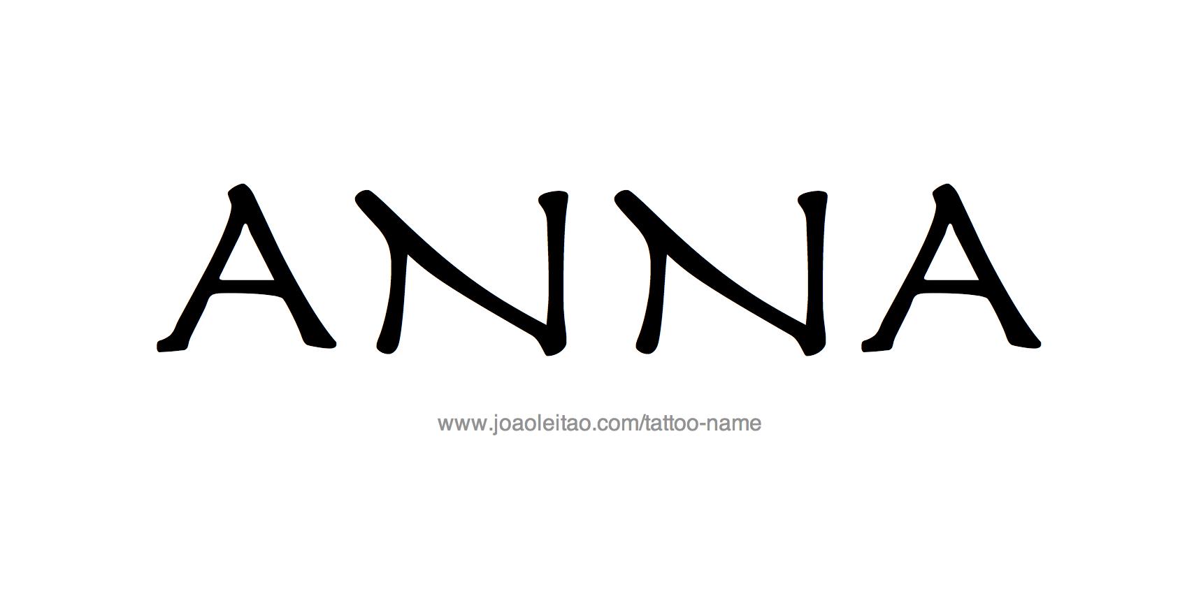 Tattoo Design Name Anna