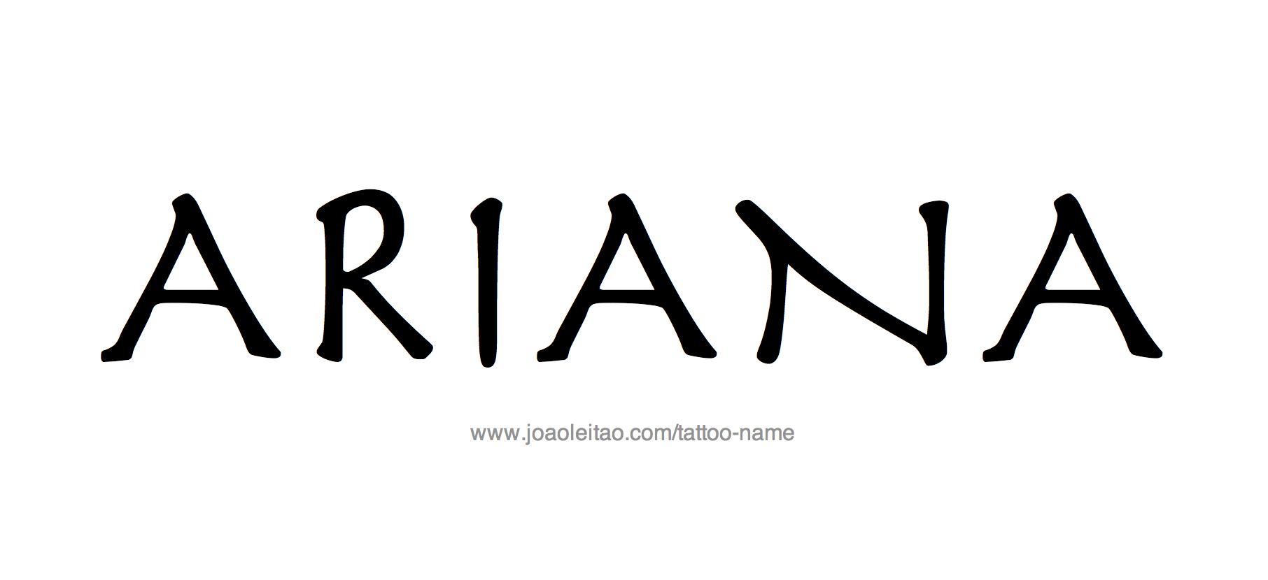 Tattoo Design Name Ariana