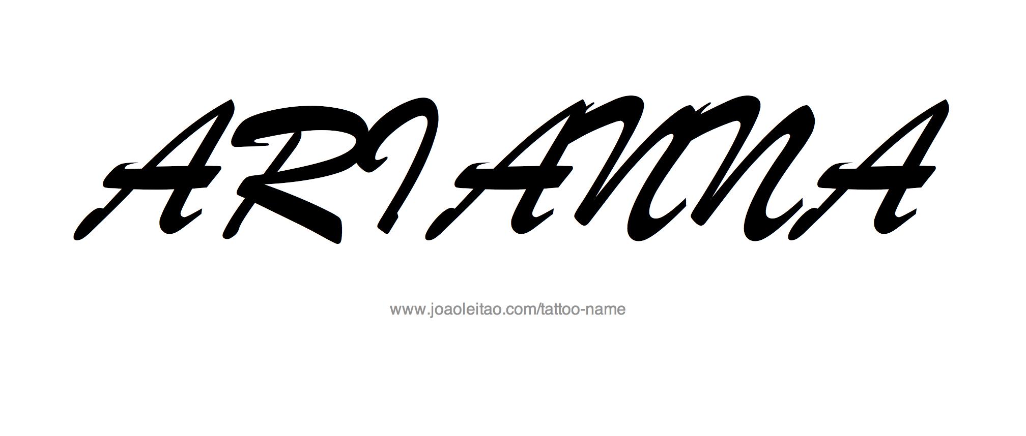 Arianna name tattoos