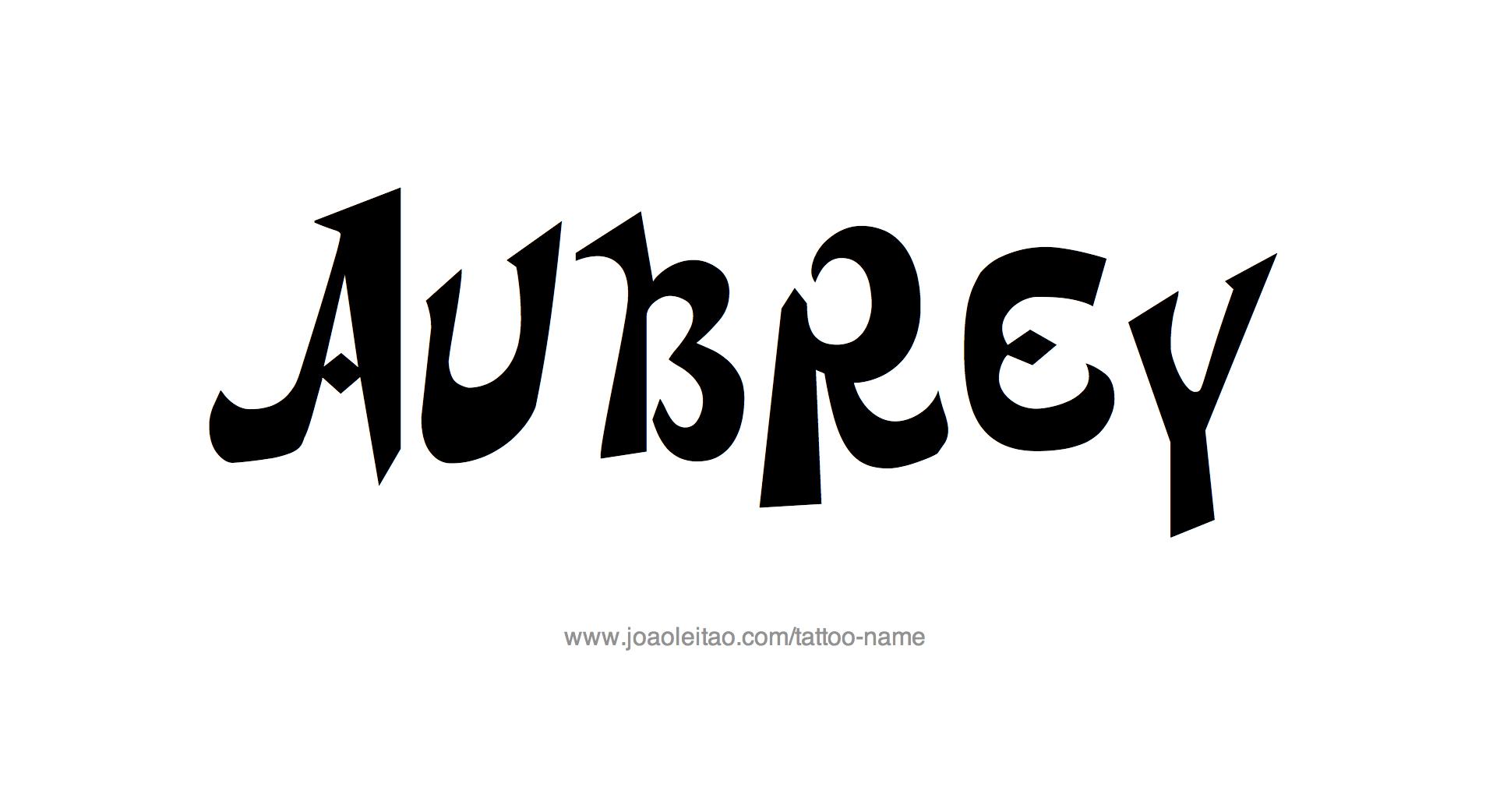 Tattoo Design Name Aubrey