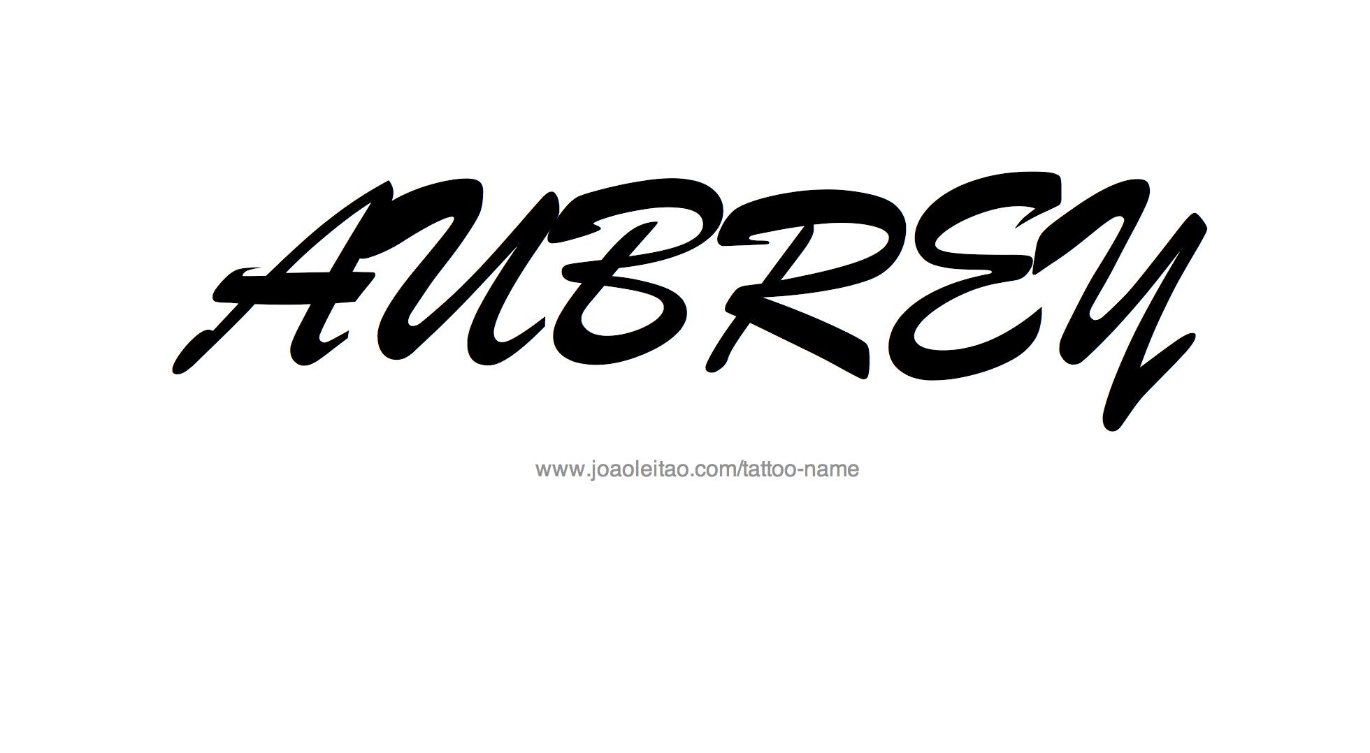 Aubrey Name Tattoo Designs
