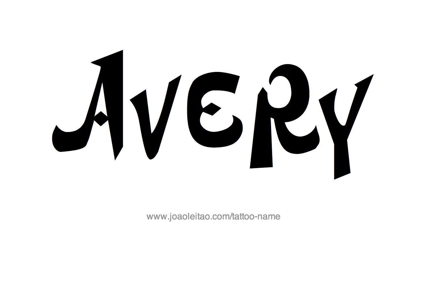 Tattoo Design Name Avery