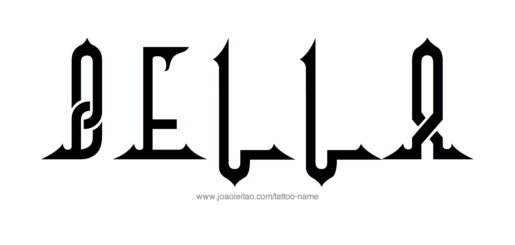 Tattoo Design Name Bella
