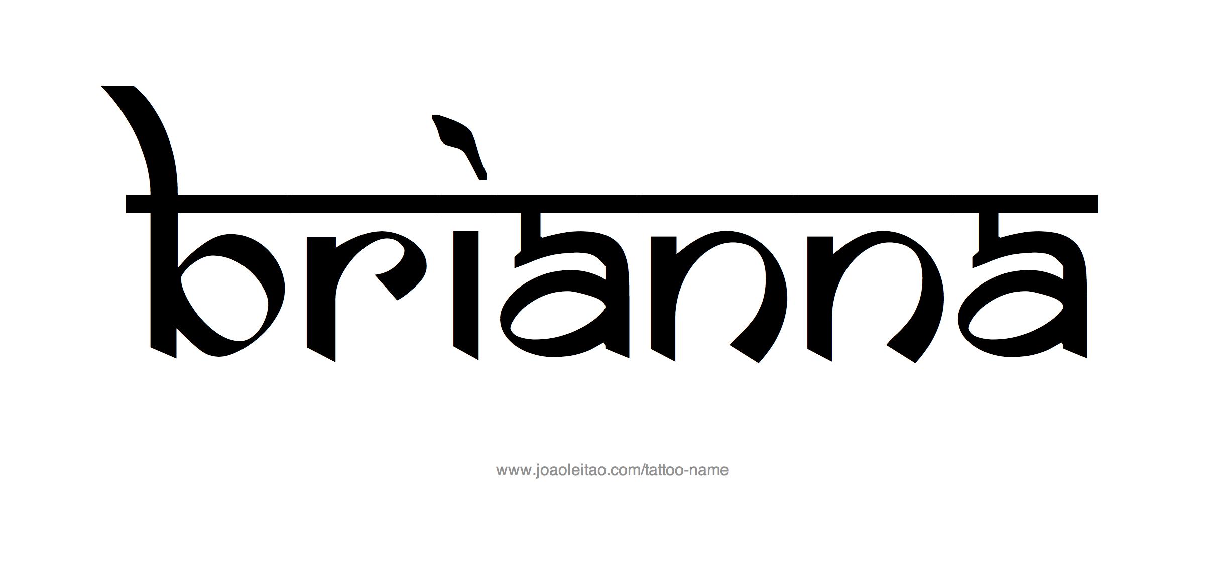 Tattoo Design Name Brianna