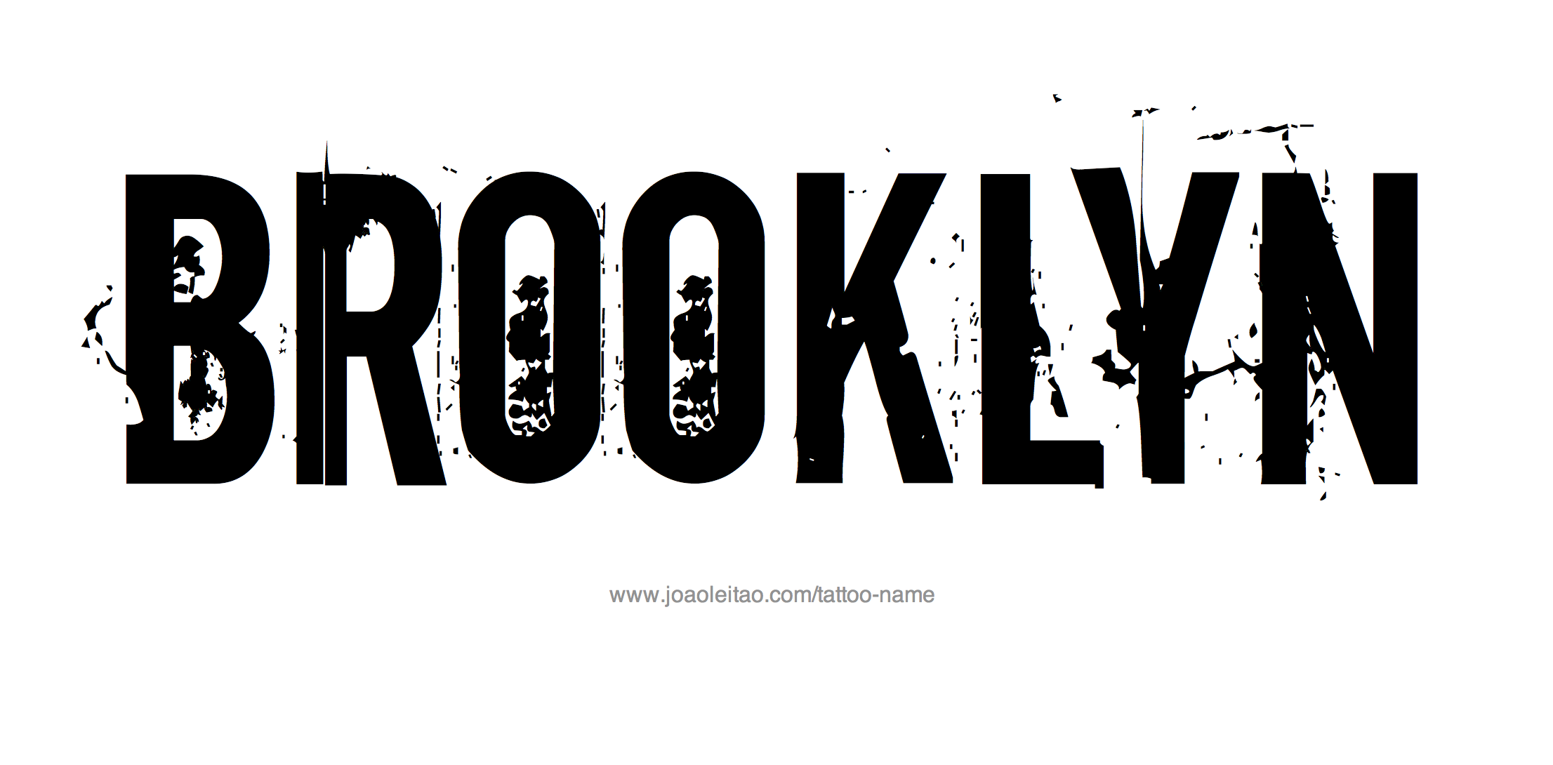 Tattoo Design Name Brooklyn