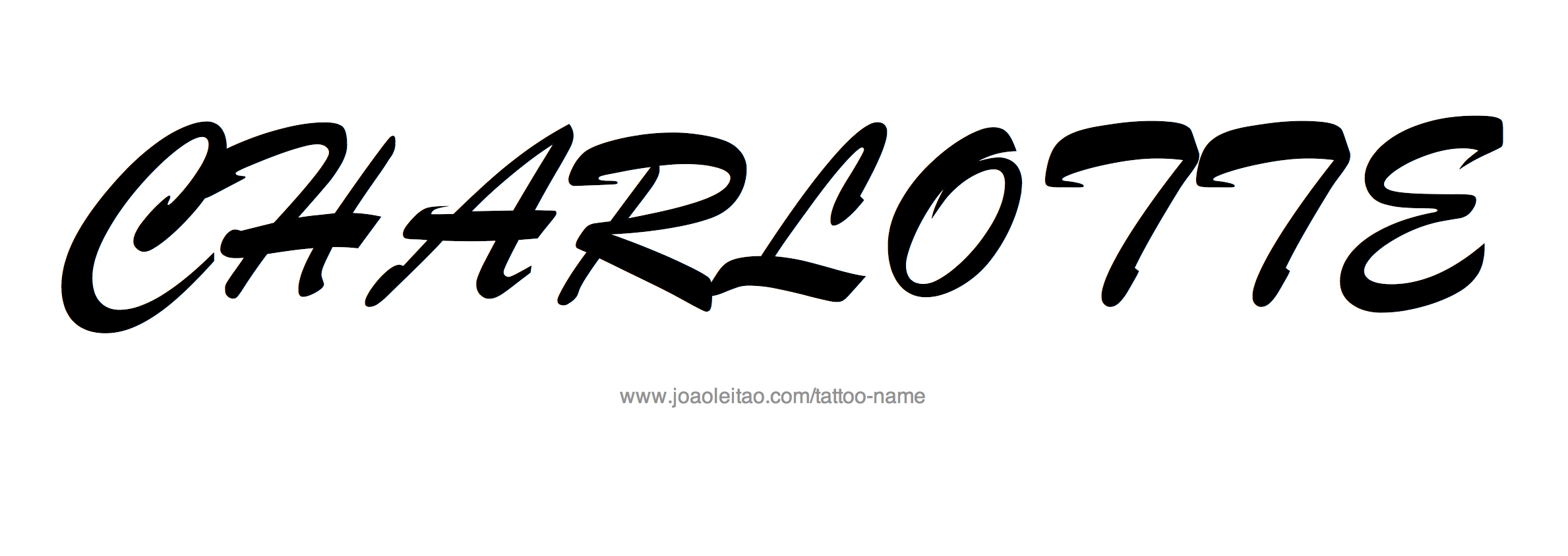 Tattoo Design Name Charlotte
