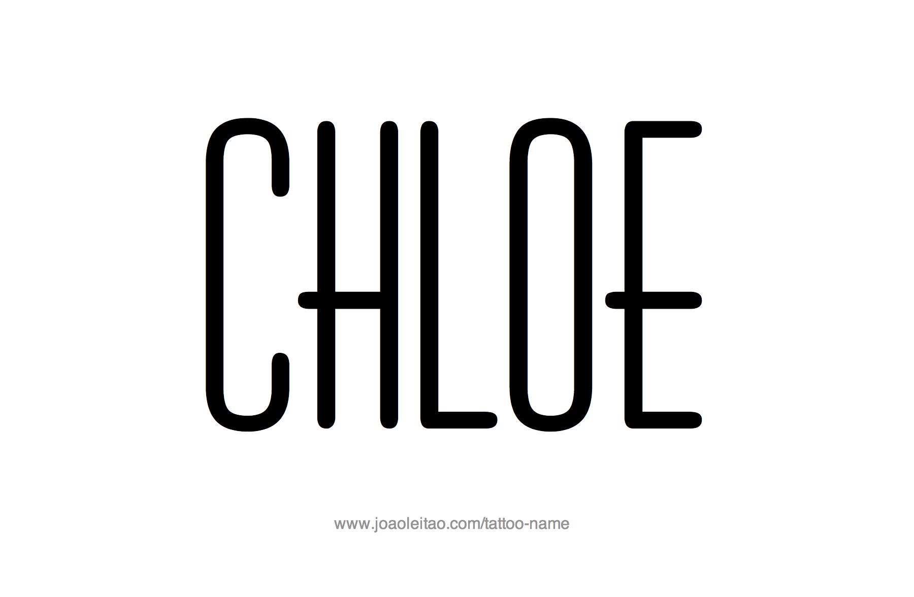 Tattoo Design Name Chloe