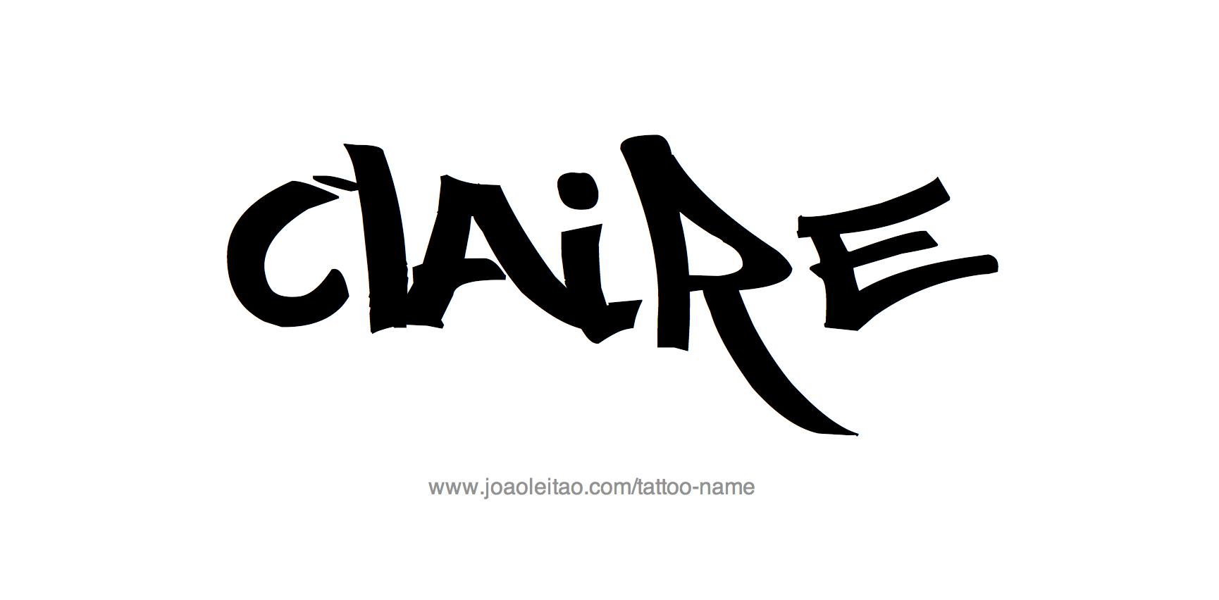 Tattoo Design Name Claire